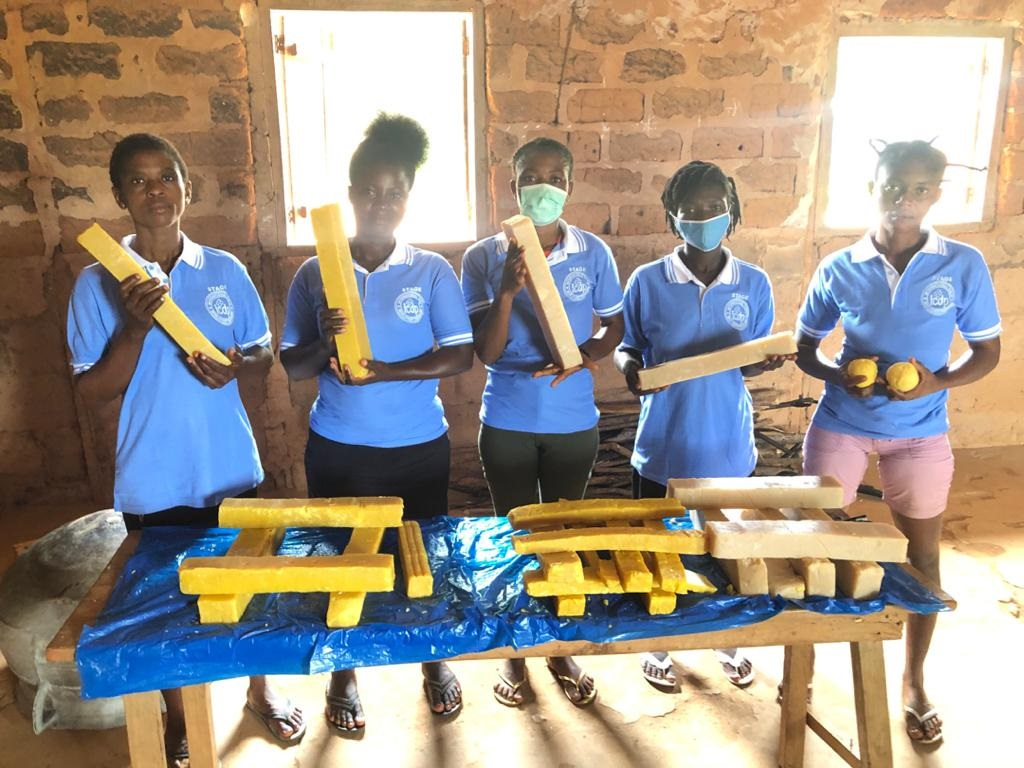Training For Our Girls In Soap Making At Otwetiri In The Eastern Region
